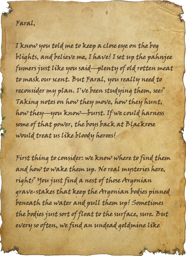 Letter to Faral