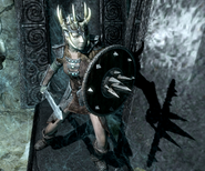 Wielding Targe of the Blooded