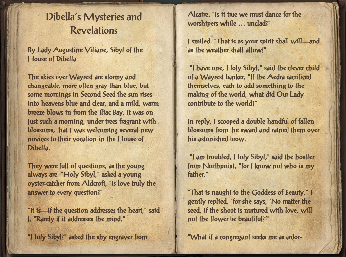 Dibella's Mysteries and Revelations