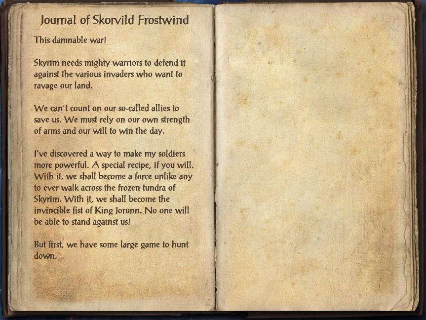 Journal of Skorvild Frostwind