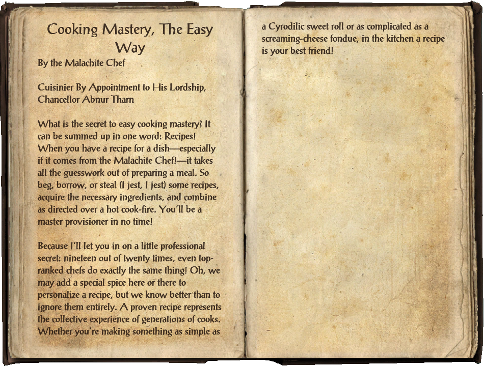 Cooking Mastery, The Easy Way