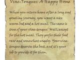 Vine-Tongues: A Happy Home