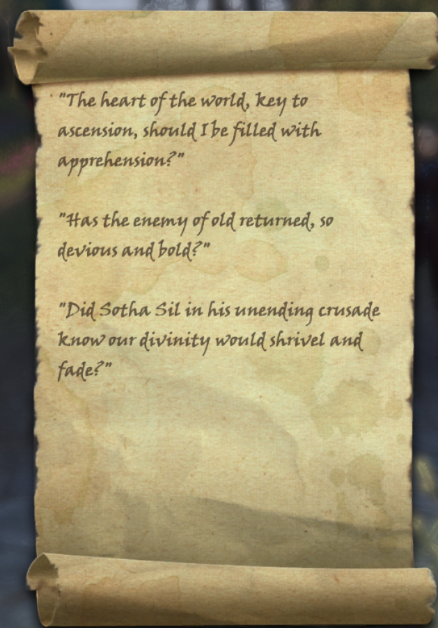 Lord Vivec's Questions