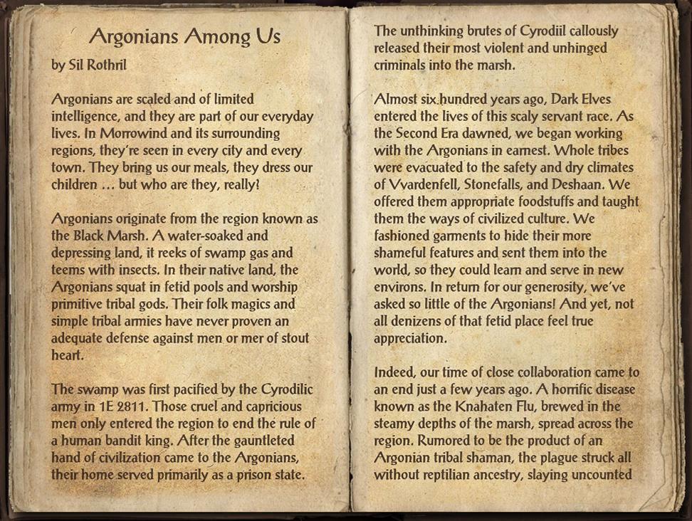 Argonians Among Us