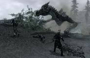 Dragonslaying fighting Sahloknir