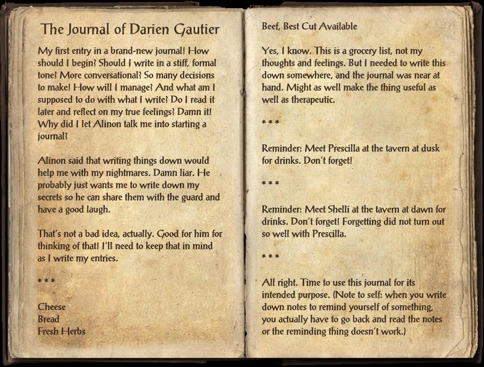 The Journal of Darien Gautier