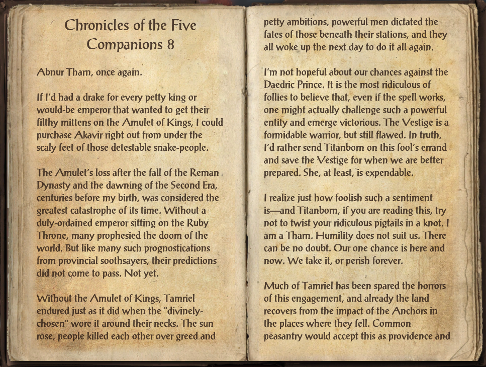 Chronicles of the Five Companions 8