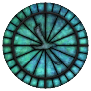 Witraż symbol Kynareth (Oblivion)