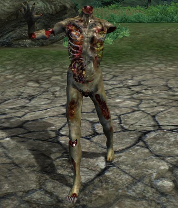 Burning Zombie