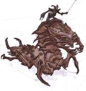 Falmer ujeżdzający Chaurusa (Conceptart) by Adam Adamowicz