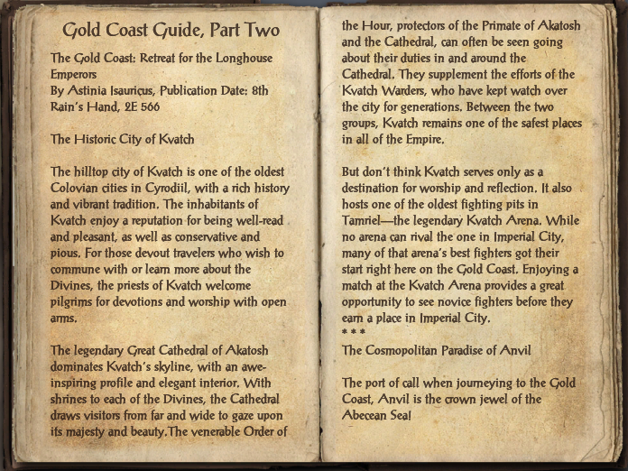 Gold Coast Guide, Part Two