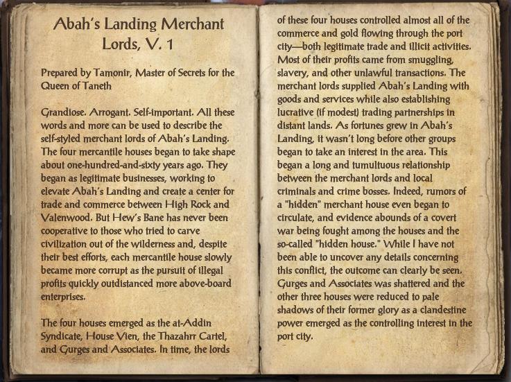 Abah's Landing Merchant Lords, V. 1