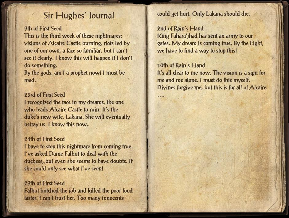 Sir Hughes' Journal