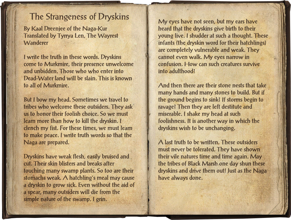 The Strangeness of Dryskins