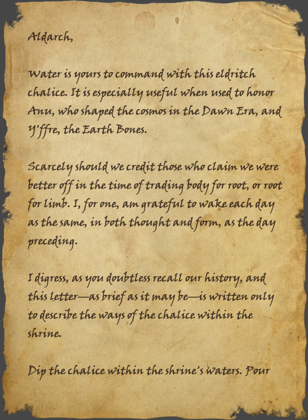 Brief Letter to an Aldarch