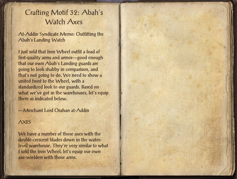 Crafting Motif 32: Abah's Watch Style