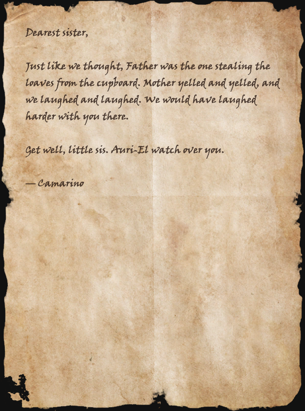 Letter from Camarino