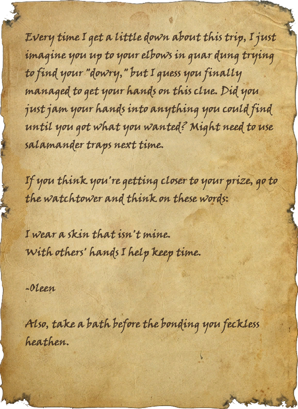 Oleen's Third Dowry Reminder