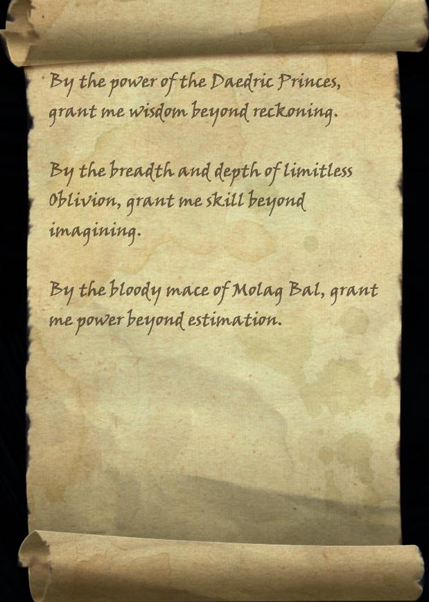 Ritual of Daedric Fortitude