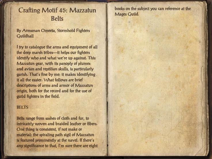 Crafting Motif 45: Mazzatun Style