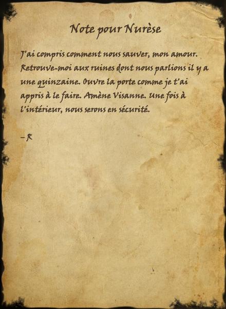 Note pour Nurèse