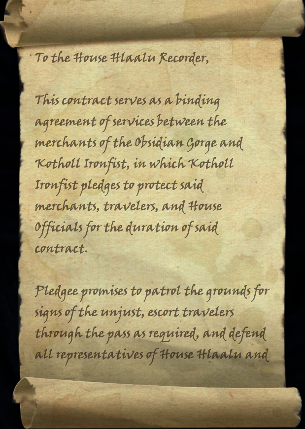 Kotholl's Contract