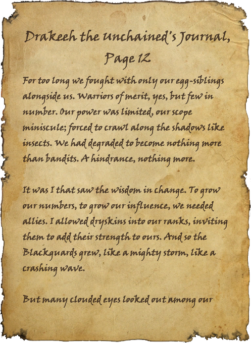 Drakeeh the Unchained's Journal, Page 12