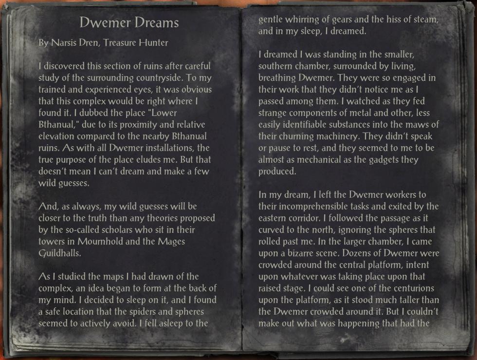 Dwemer Dreams