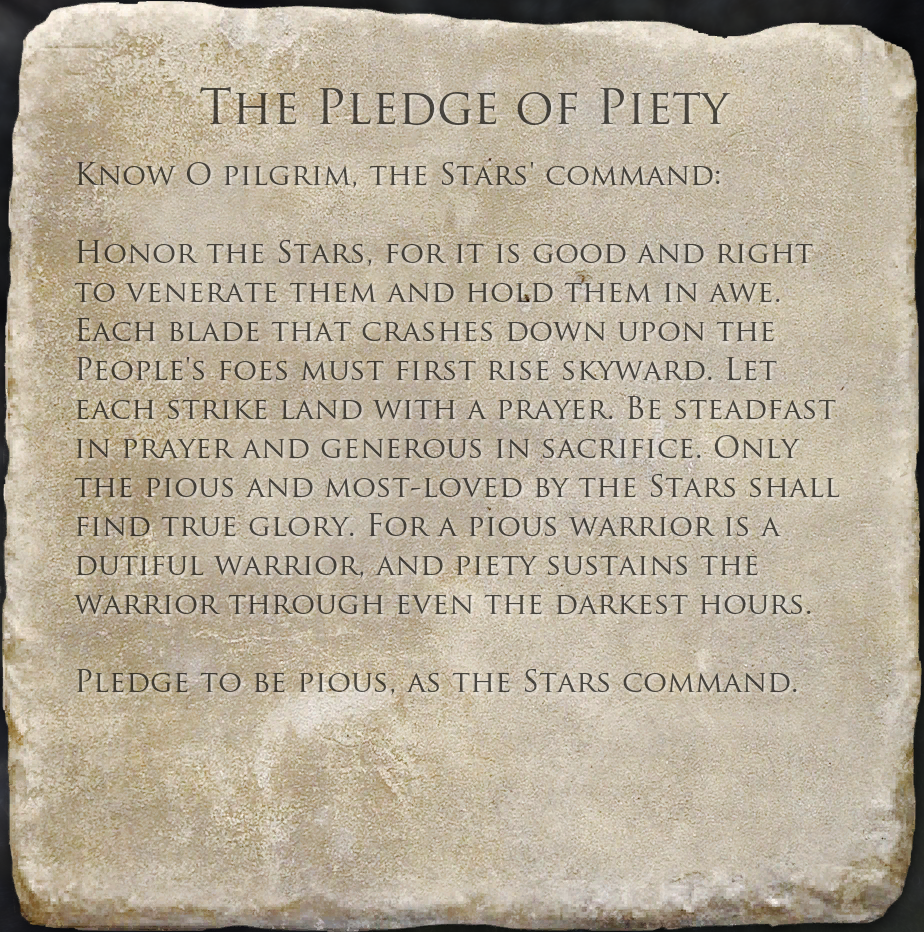 The Pledge of Piety