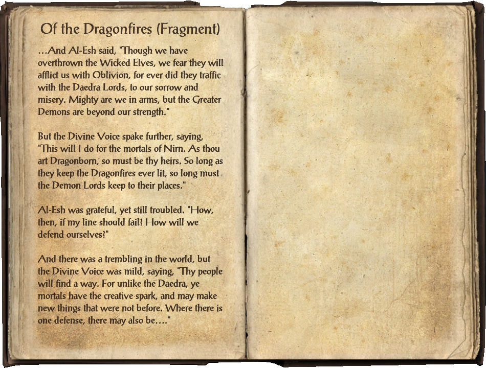 Of the Dragonfires (Fragment)