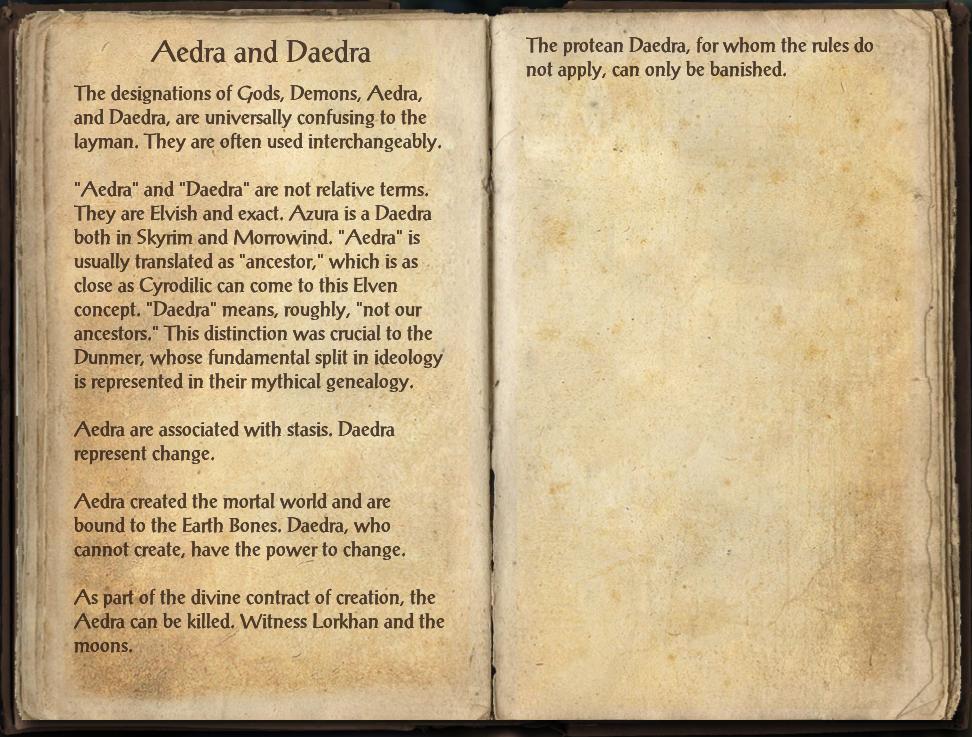 Aedra and Daedra