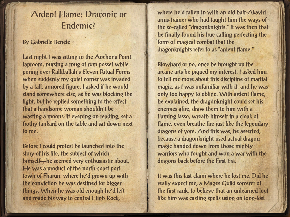 Ardent Flame: Draconic or Endemic?