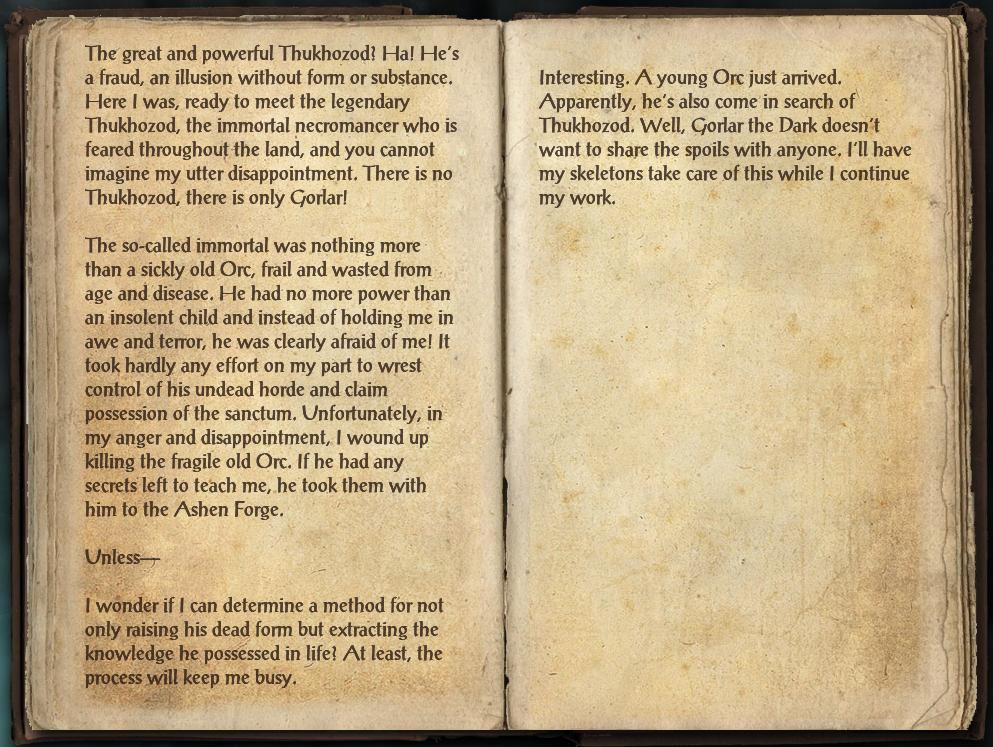 Gorlar's Journal, Part Two