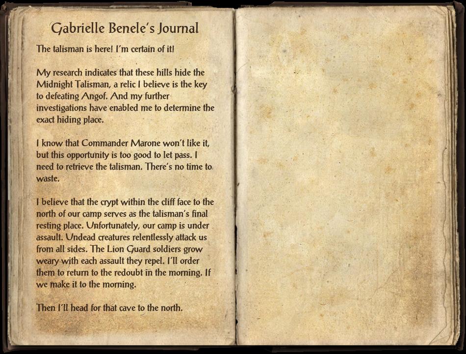 Gabrielle Benele's Journal