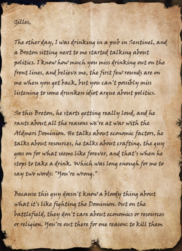 A Soldier's Letter