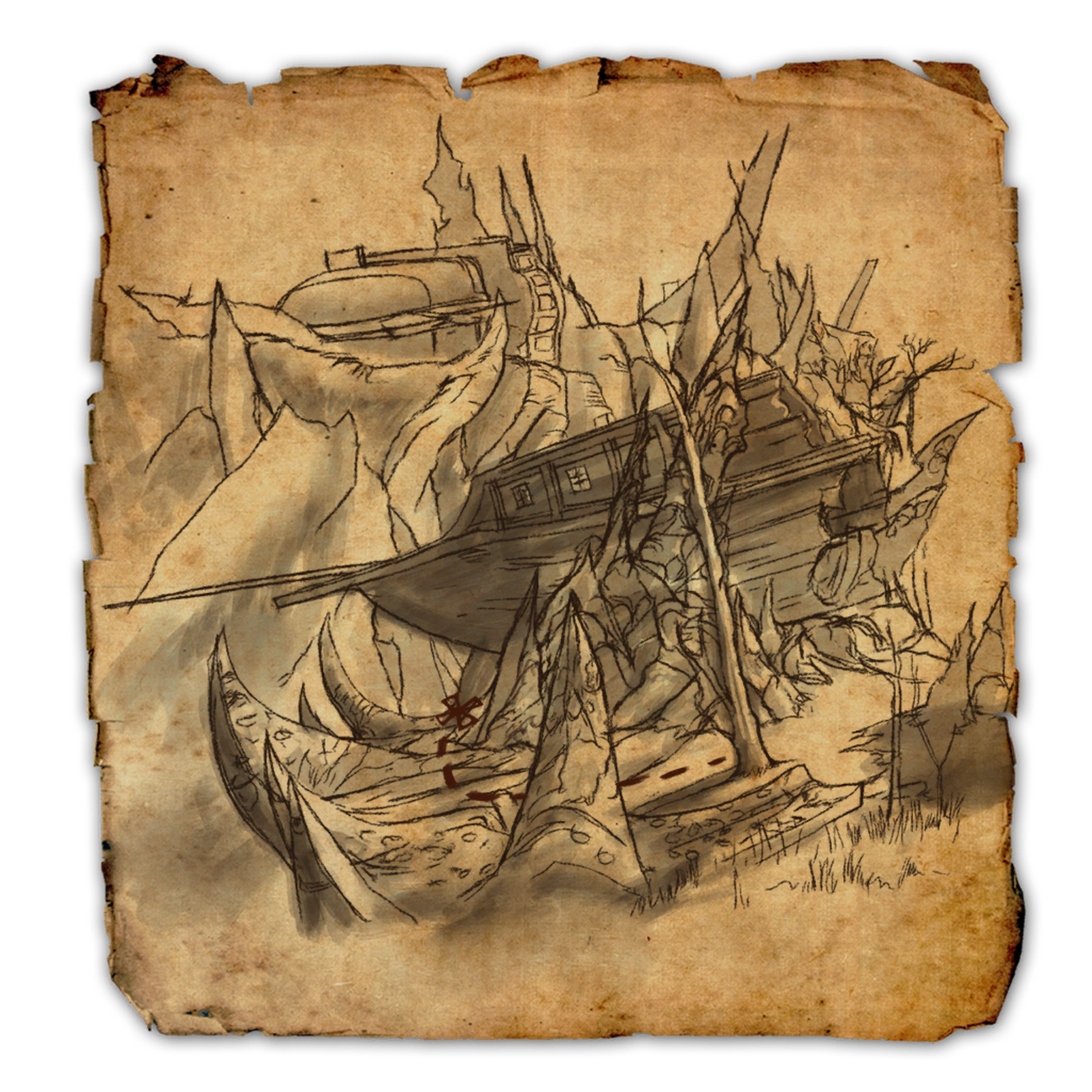 Coldharbour CE Treasure Map