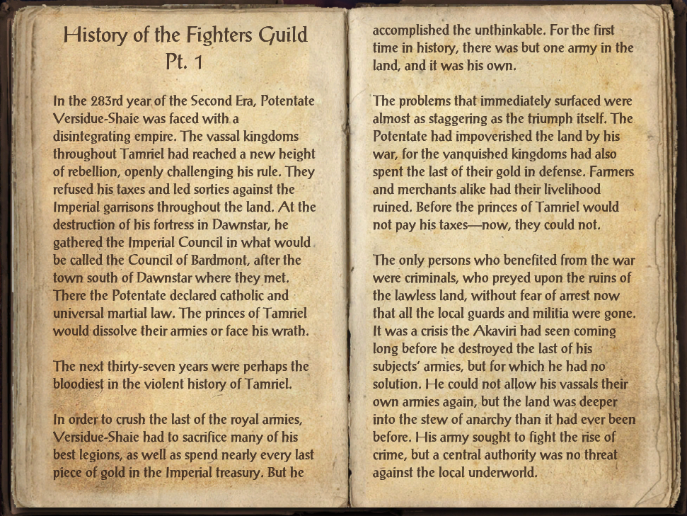 History of the Fighters Guild Pt. 1
