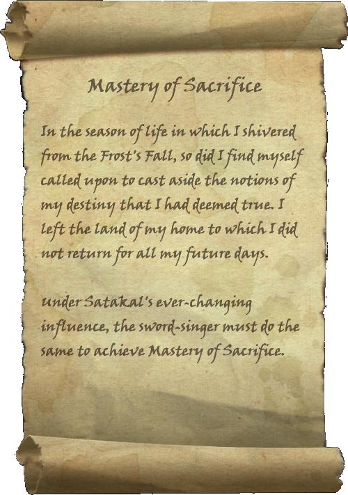 Mastery of Sacrifice