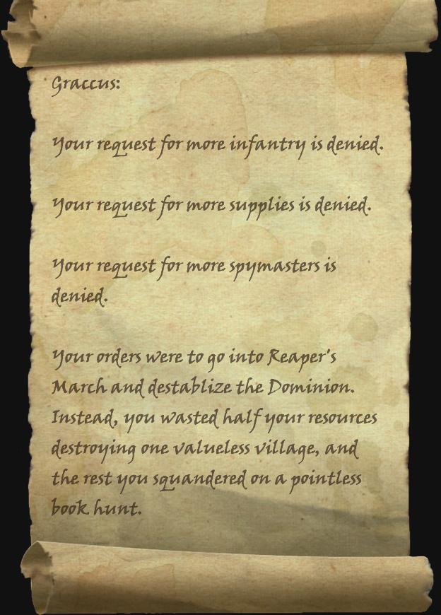 Missive from Cyrodiil