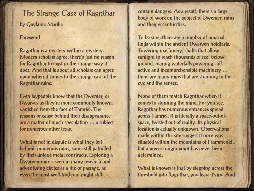 The Strange Case of Ragnthar
