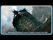 Reliving the Opening of Skyrim with the Creators from BGS