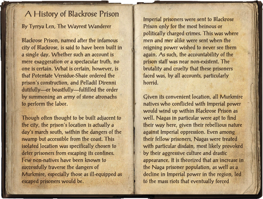 A History of Blackrose Prison