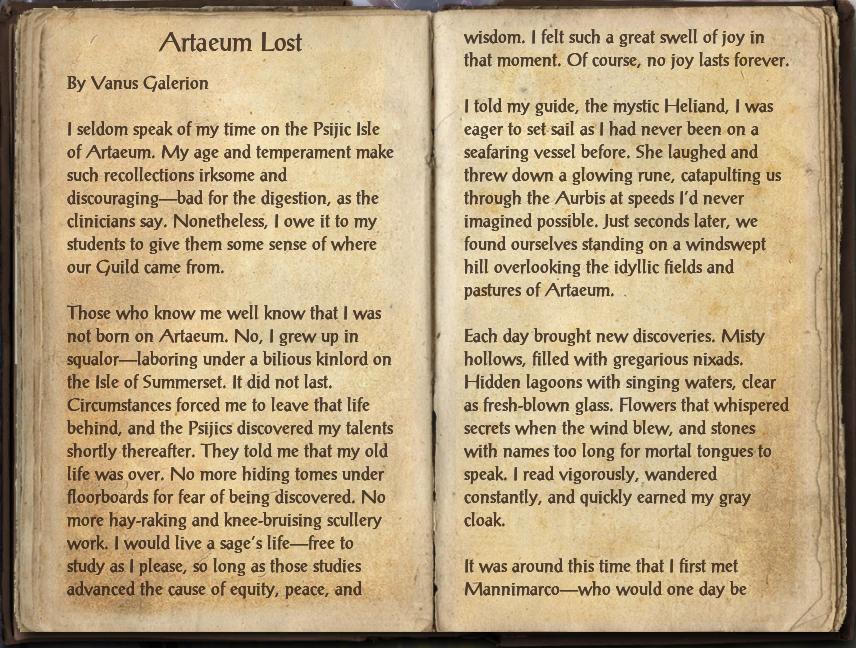 Artaeum Lost