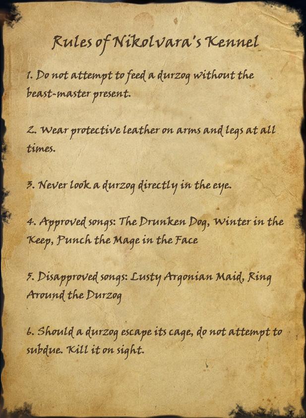 Rules of Nikolvara's Kennel