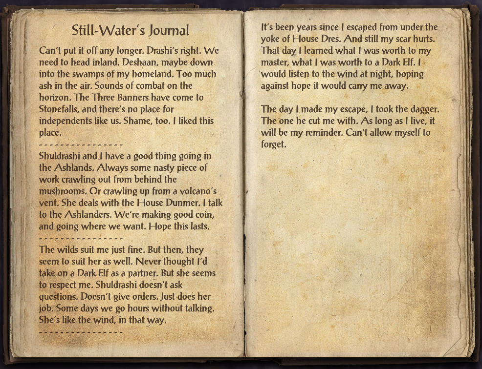 Still-Water's Journal