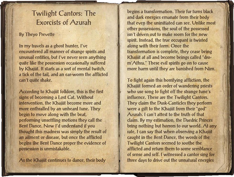 Twilight Cantors: The Exorcists of Azurah