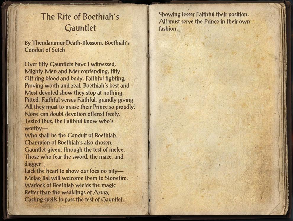 The Rite of Boethiah's Gauntlet