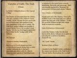 Varieties of Faith: The Dark Elves