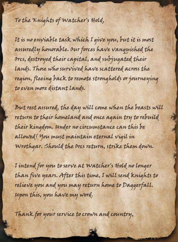 King Maxevian's Orders
