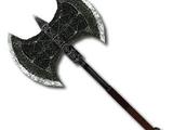 Северный серебряный боевой топор